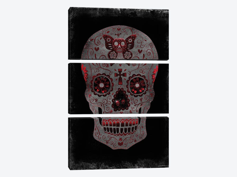 Day Of The Dead In Red by Martin Wagner 3-piece Canvas Artwork