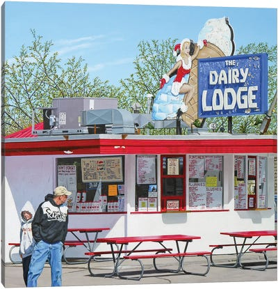 Dairy Lodge Canvas Art Print