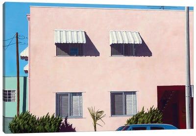 Pink Apartments Canvas Art Print