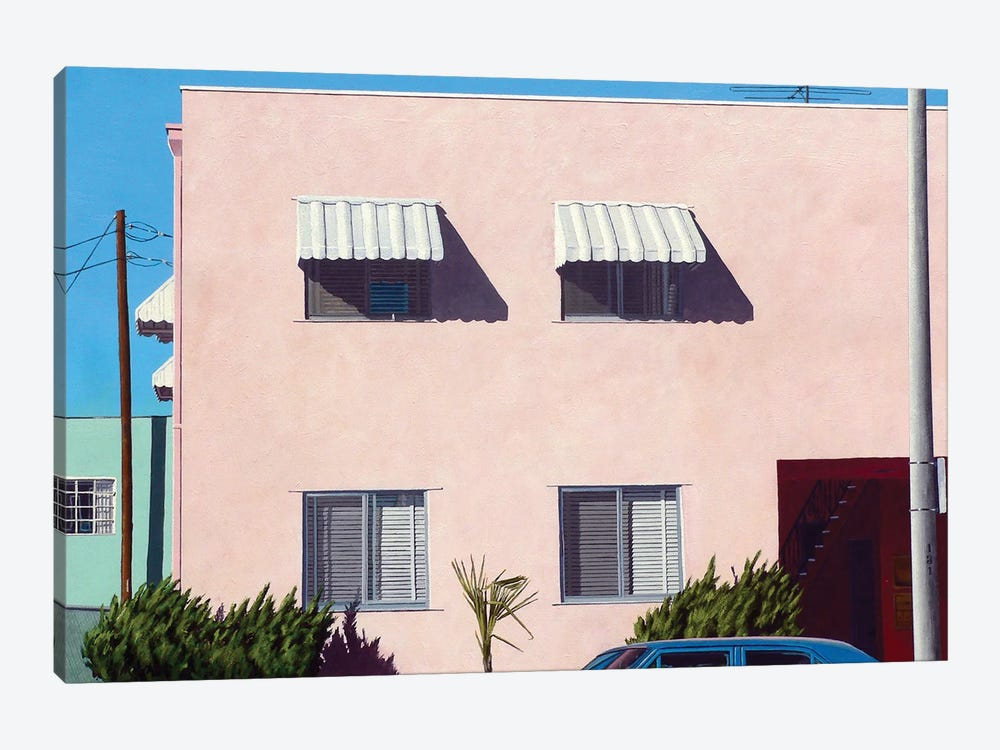 Pink Apartments by Michael Ward 1-piece Canvas Print