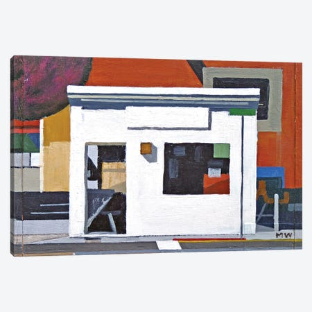 La Casa Blanca (Abstract) Canvas Print #MWD21} by Michael Ward Canvas Artwork