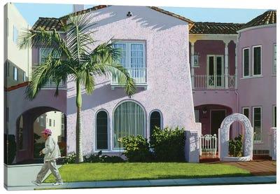 Long Beach Pink Canvas Art Print