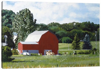 Michigan Barn I Canvas Art Print