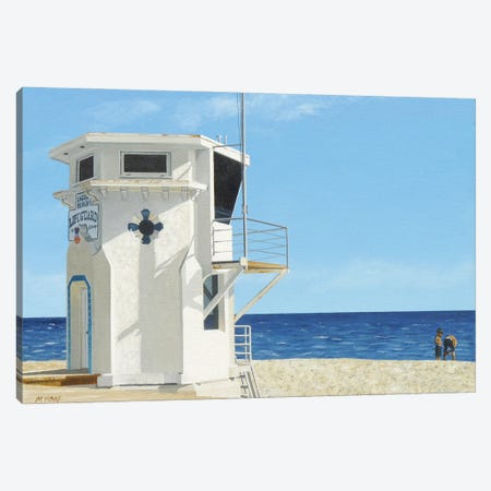 Moderate Surf Canvas Print #MWD36} by Michael Ward Canvas Artwork