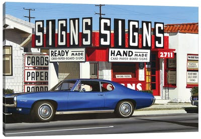 Signs Signs Canvas Art Print