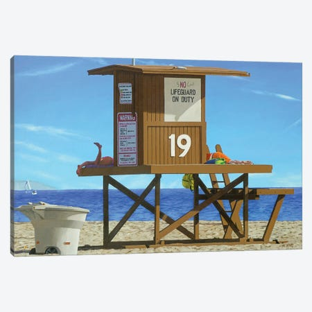 Beached Canvas Print #MWD7} by Michael Ward Canvas Wall Art