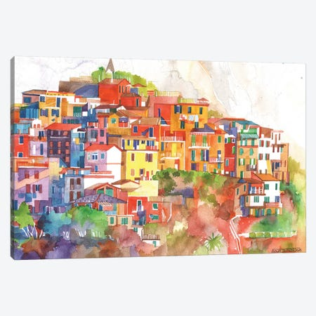 Cinque Terre II Canvas Print #MWR10} by Maja Wronska Canvas Art Print