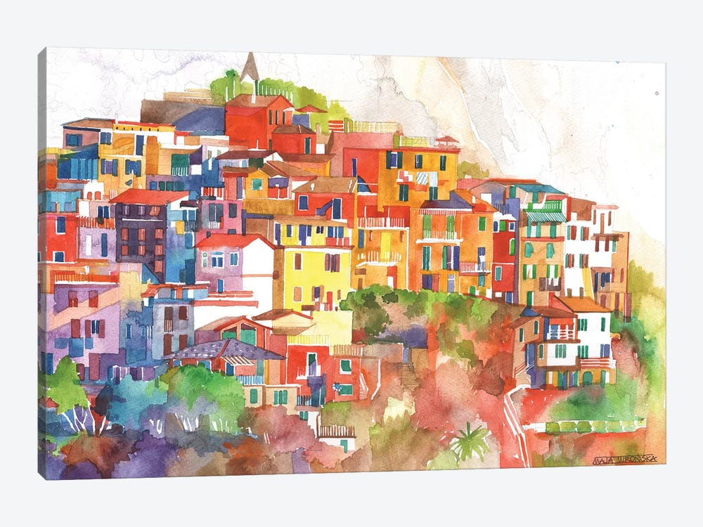Cinque Terre II by Maja Wronska 1-piece Canvas Art