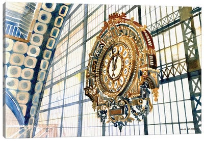 Clock Canvas Art Print
