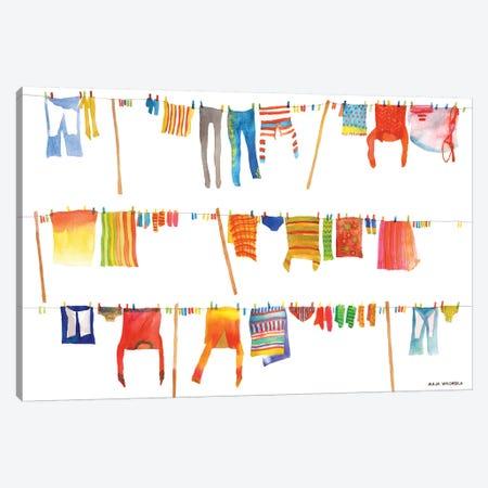 Laundry Canvas Print #MWR19} by Maja Wronska Canvas Art Print
