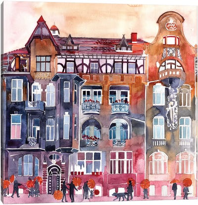 Apartment House In Poznań Canvas Art Print