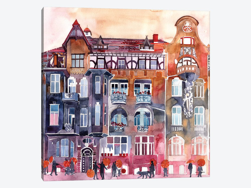 Apartment House In Poznań by Maja Wronska 1-piece Canvas Print
