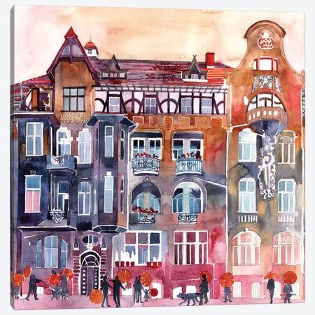 Apartment House In Poznań Canvas Print #MWR1} by Maja Wronska Canvas Art