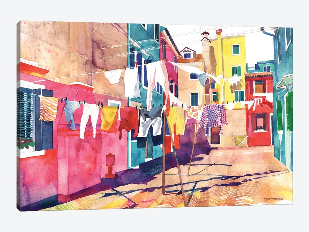 Laundry In Venice 1-piece Art Print