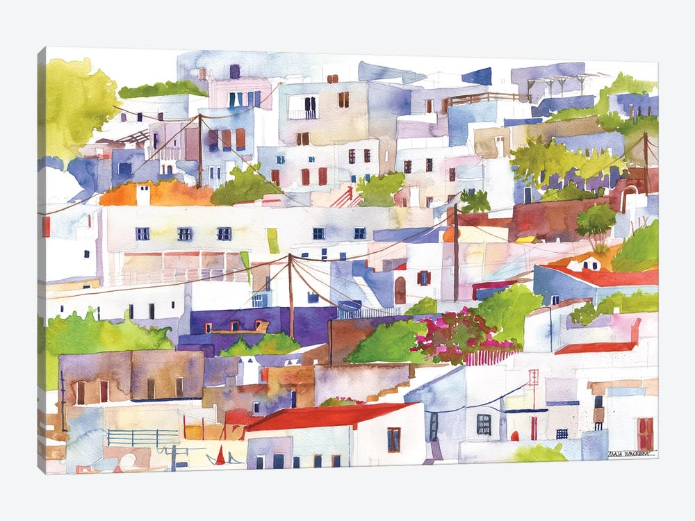 Lindos by Maja Wronska 1-piece Canvas Wall Art