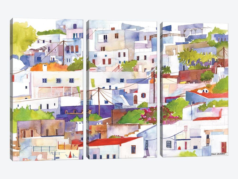 Lindos by Maja Wronska 3-piece Canvas Artwork