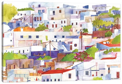 Lindos Canvas Art Print