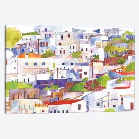 Lindos Canvas Print #MWR21} by Maja Wronska Canvas Artwork