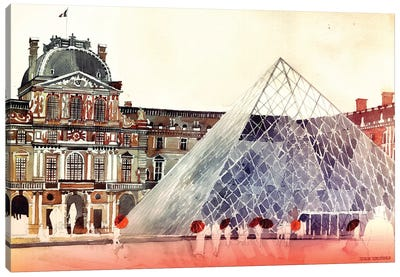 Louvre In September Canvas Art Print