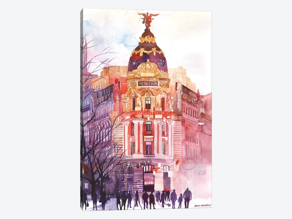 Madrid by Maja Wronska 1-piece Canvas Wall Art