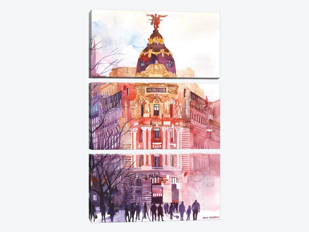 Madrid by Maja Wronska 3-piece Canvas Wall Art