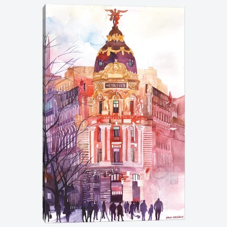 Madrid Canvas Print #MWR23} by Maja Wronska Canvas Wall Art