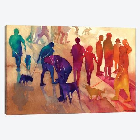 Man's Best Friends Canvas Print #MWR24} by Maja Wronska Art Print