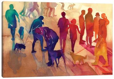 Man's Best Friends Canvas Art Print