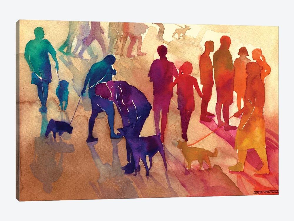 Man's Best Friends by Maja Wronska 1-piece Canvas Art Print