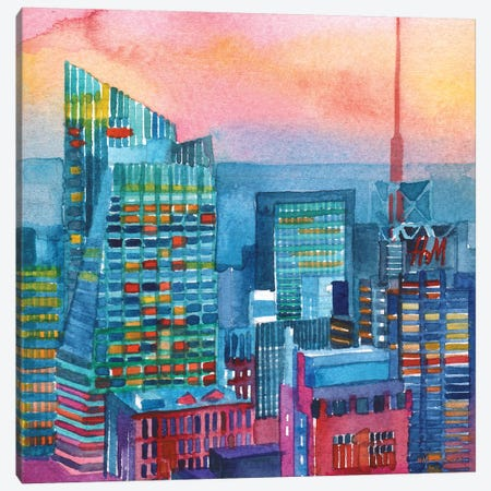 NYC I Canvas Print #MWR25} by Maja Wronska Canvas Print