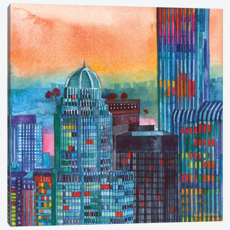 NYC II Canvas Print #MWR26} by Maja Wronska Canvas Art Print