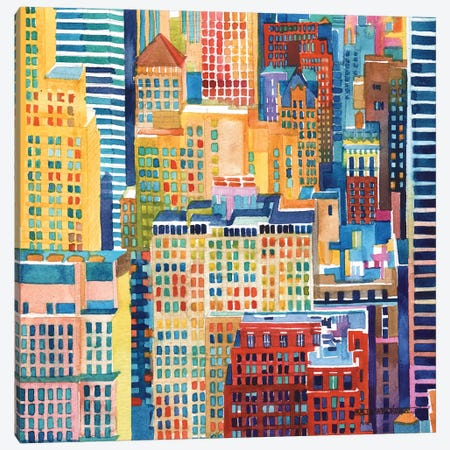 NYC III Canvas Print #MWR27} by Maja Wronska Art Print