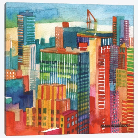NYC IV Canvas Print #MWR28} by Maja Wronska Canvas Art