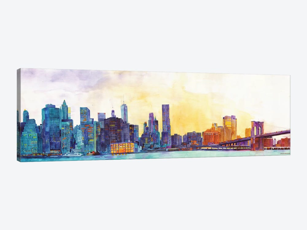 NYC Panorama 1-piece Canvas Art