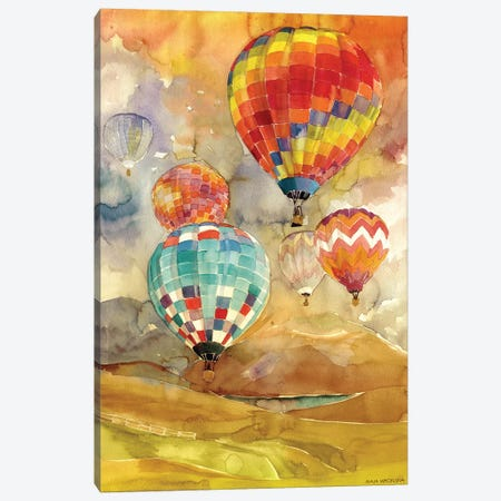 Balloons Canvas Print #MWR2} by Maja Wronska Canvas Artwork
