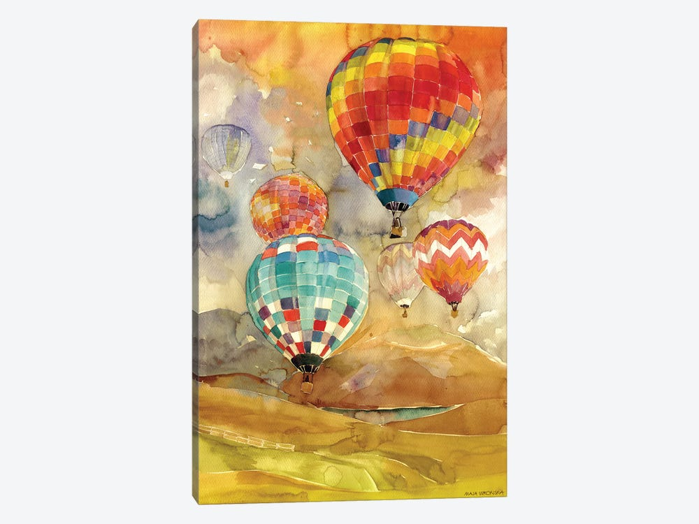 Balloons by Maja Wronska 1-piece Canvas Artwork