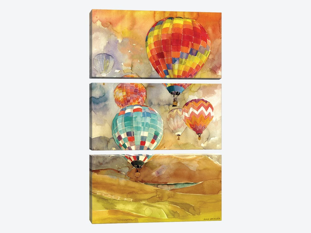 Balloons by Maja Wronska 3-piece Canvas Wall Art