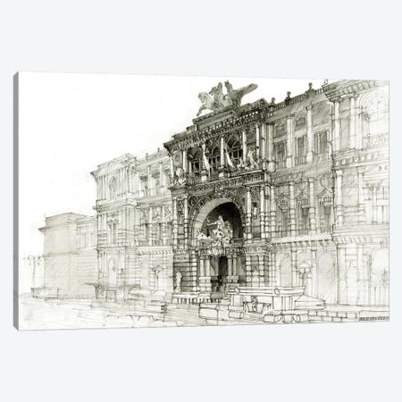 Old Roma Canvas Print #MWR30} by Maja Wronska Art Print