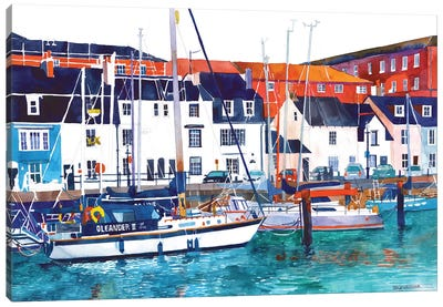Port In Weymouth Canvas Art Print