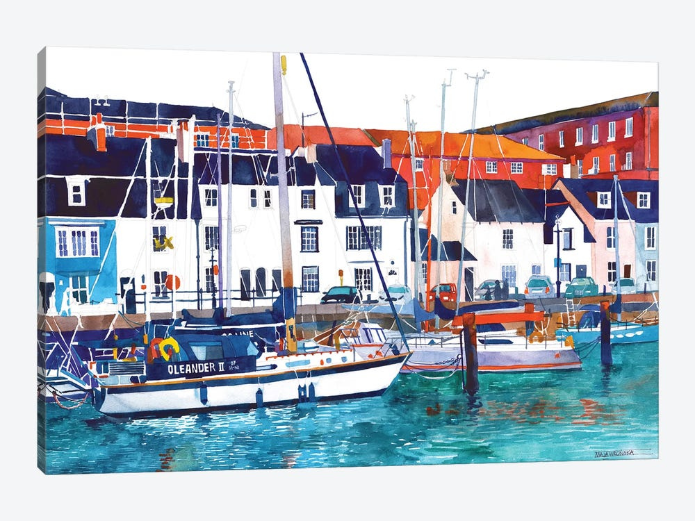 Port In Weymouth 1-piece Canvas Art Print