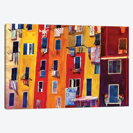 Portovenere Canvas Print #MWR32} by Maja Wronska Canvas Print