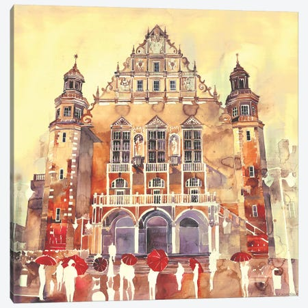 Poznań Canvas Print #MWR33} by Maja Wronska Canvas Art Print