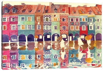 Rain In Poznań Canvas Art Print