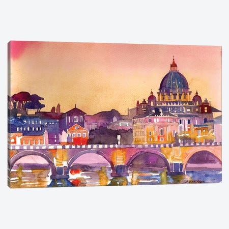 Rome Canvas Print #MWR35} by Maja Wronska Canvas Art