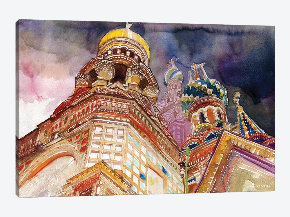 Saint Petersburg by Maja Wronska 1-piece Canvas Wall Art