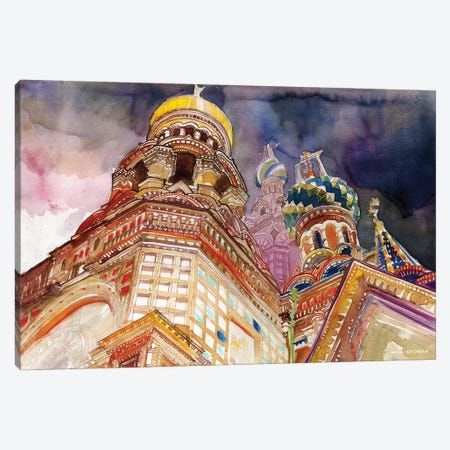 Saint Petersburg Canvas Print #MWR36} by Maja Wronska Canvas Art