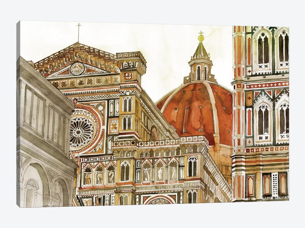 Santa Maria Del Fiore by Maja Wronska 1-piece Art Print
