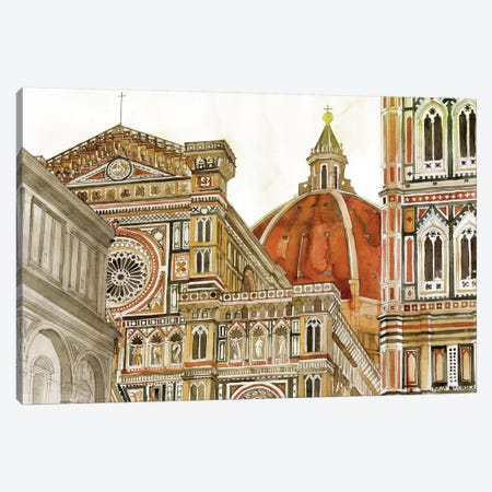 Santa Maria Del Fiore 3-Piece Canvas #MWR37} by Maja Wronska Canvas Art
