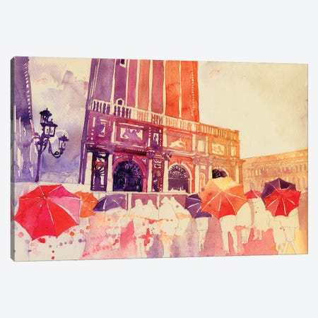 Summer Drizzle In Venezia Canvas Print #MWR39} by Maja Wronska Canvas Art Print