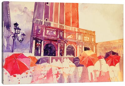 Summer Drizzle In Venezia Canvas Art Print